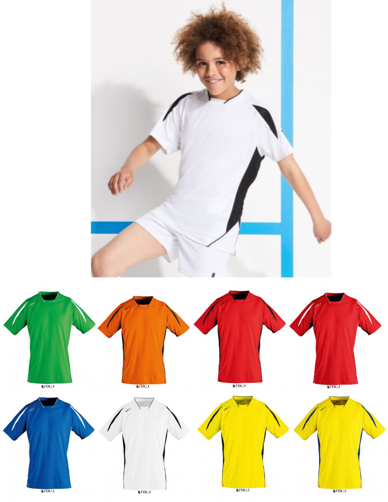 Sol's 01639 Kid's Maracana 2 Short Sleeve Shirt